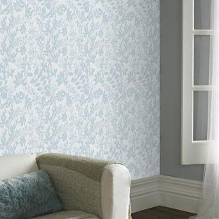Kira wallpaper aqua from decorating for Homebase bedroom inspiration