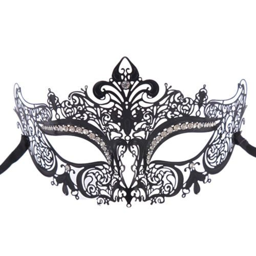 Halloween Evening Traditional Party Black Couple Costume Masquerade Masks