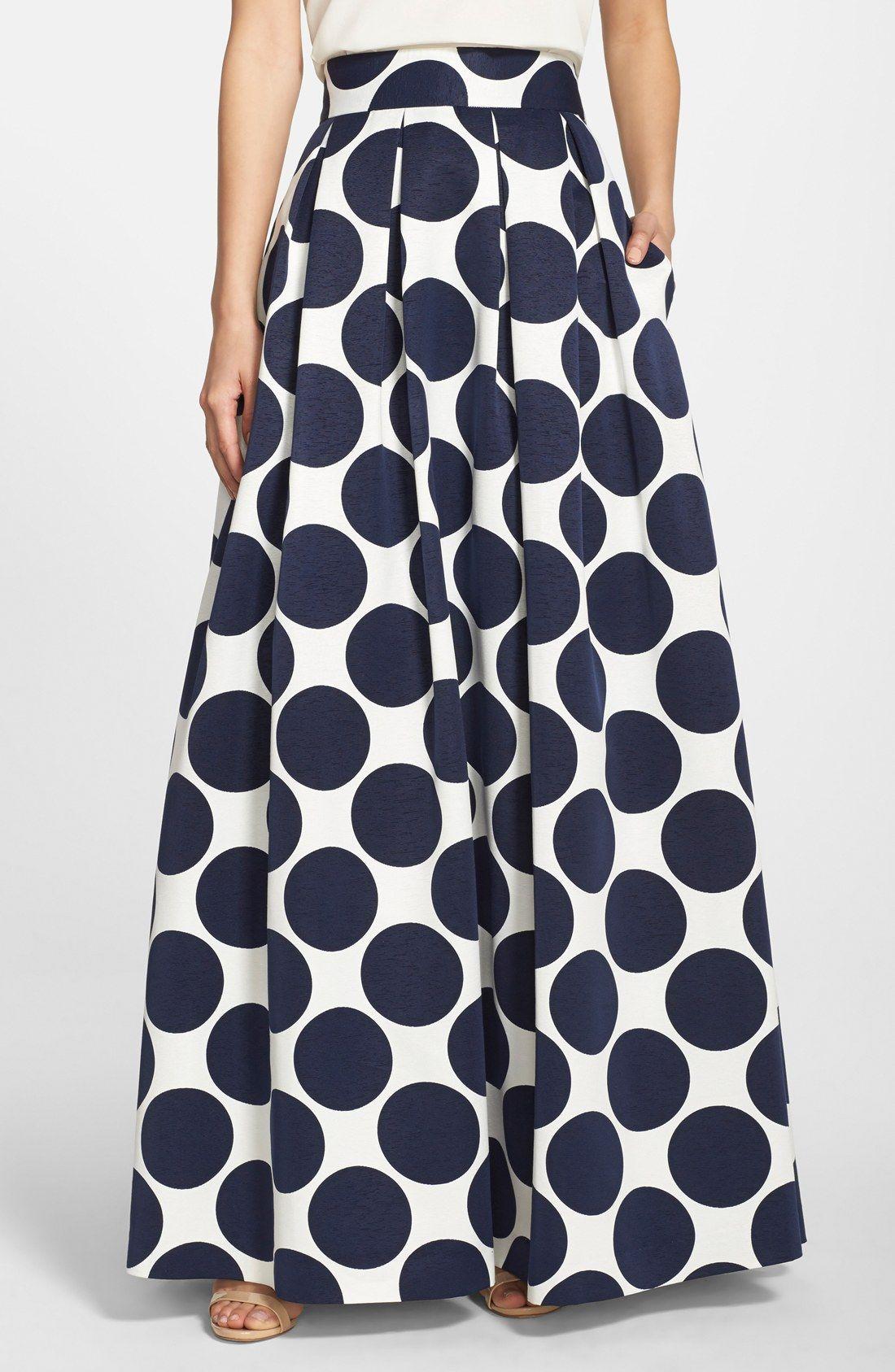 Eliza j pleated dot print ball skirt nordstrom sew what