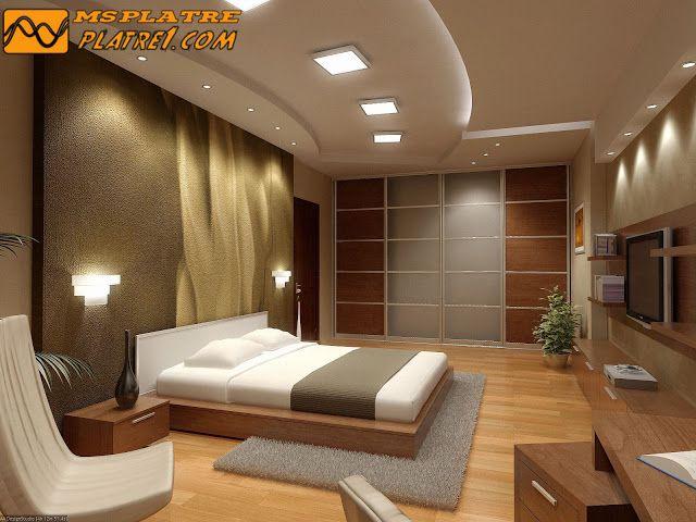 Nouveau Plafond En Platre Pour Une Chambre A Coucher  Decoracion