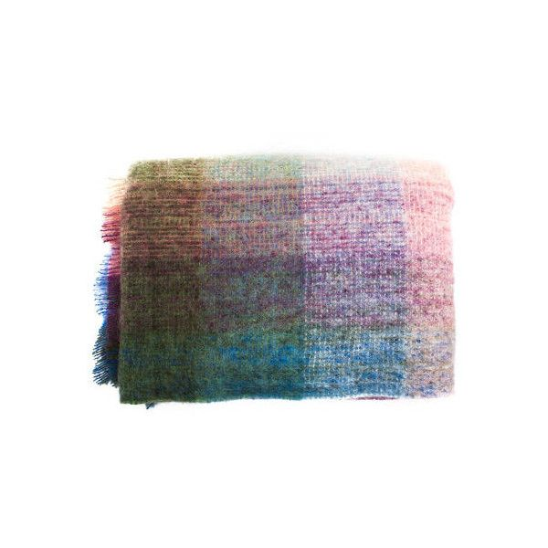 Roullier White Pure Wool Mohair Throw - Bright Heather (€125) ❤ liked on Polyvore featuring home, bed & bath, bedding, blankets, white throw, mohair blanket, woven blanket, woven throw blanket and wool throw blanket
