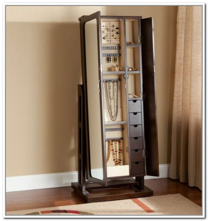 Stand Up Mirror Jewelry Armoires Beautiful Furniture Floor Mirror With Jewelry Storage Living Sw Jewelry Mirror Mirror Jewelry Storage Standing Jewelry Armoire