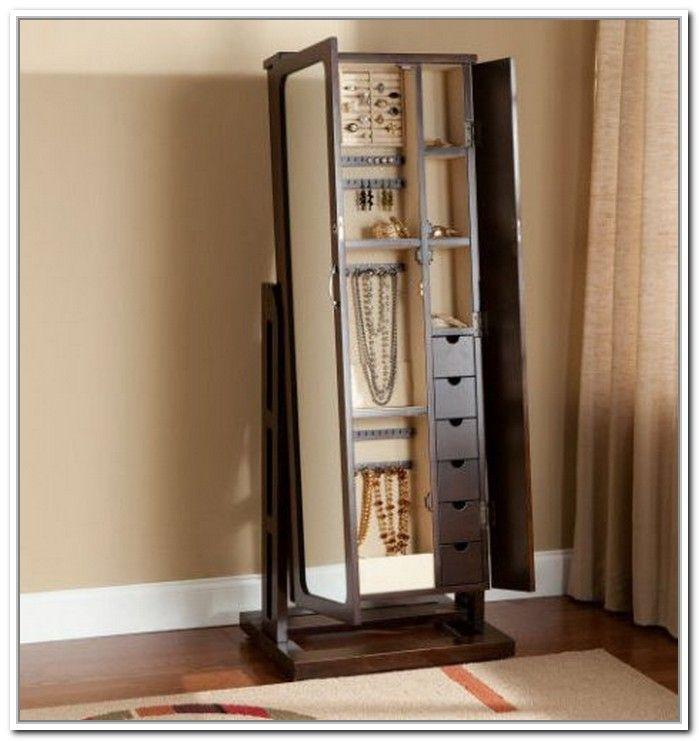 Stand Up Mirror Jewelry Storage Mirror Jewelry Storage Jewelry Mirror Mirror Jewellery Cabinet