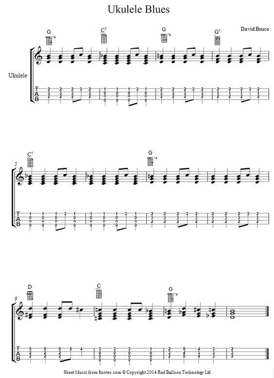 David Bruce - Ukulele Blues sheet music for Ukulele | ukelele in