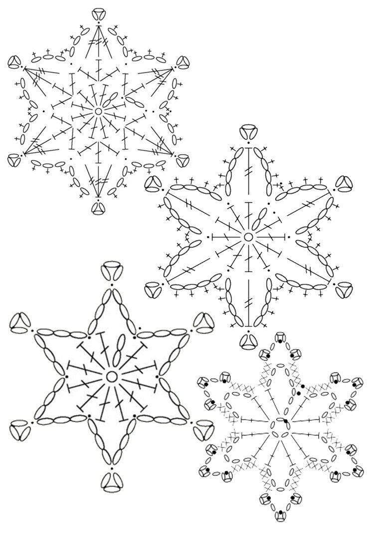 снежинки | Украшения к Рождеству и НГ | Pinterest | Schneeflocken ...
