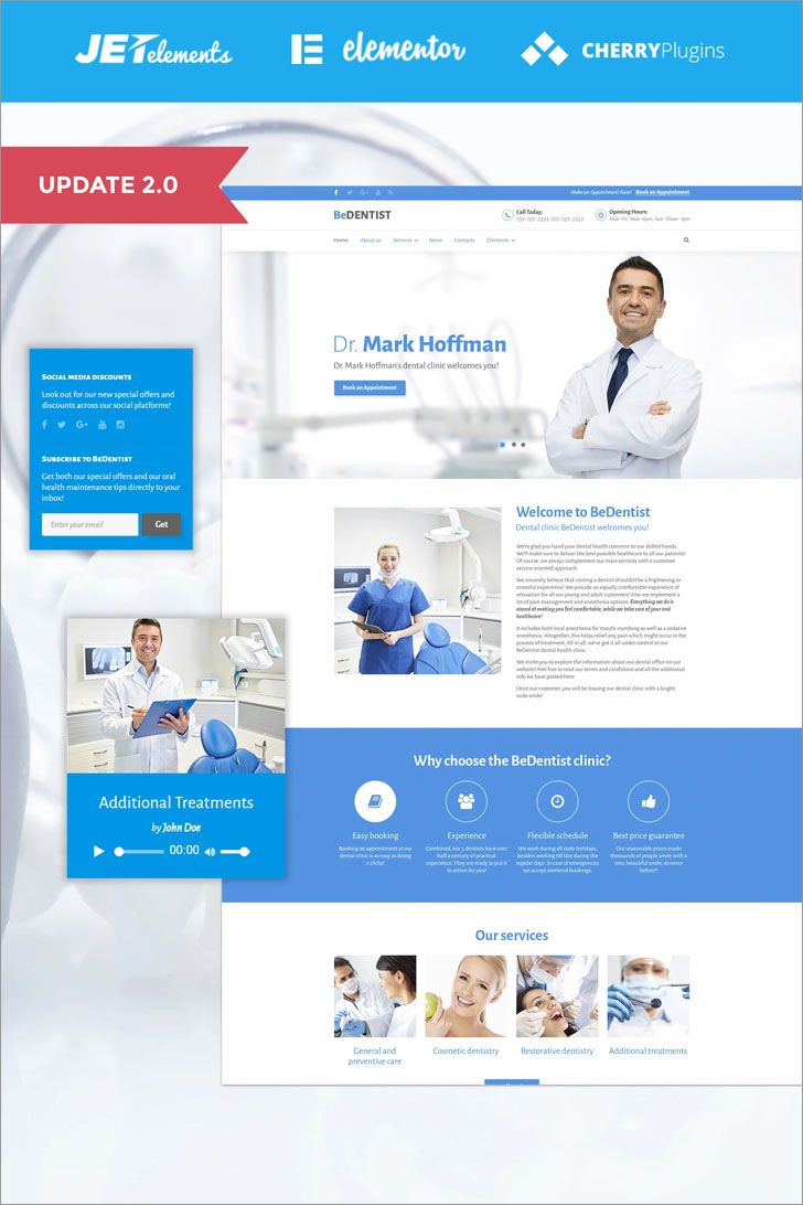 BeDentist is a #responsive #medical #WordPress #theme with a clean ...
