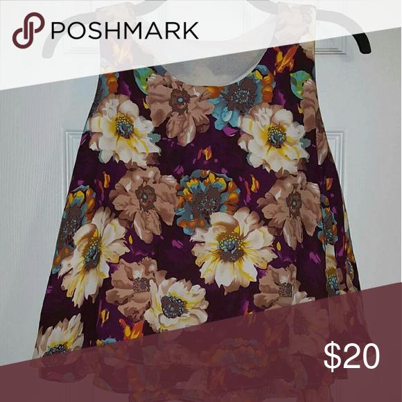 ✨Sale✨ Floral Print Top No trades Tops Tank Tops
