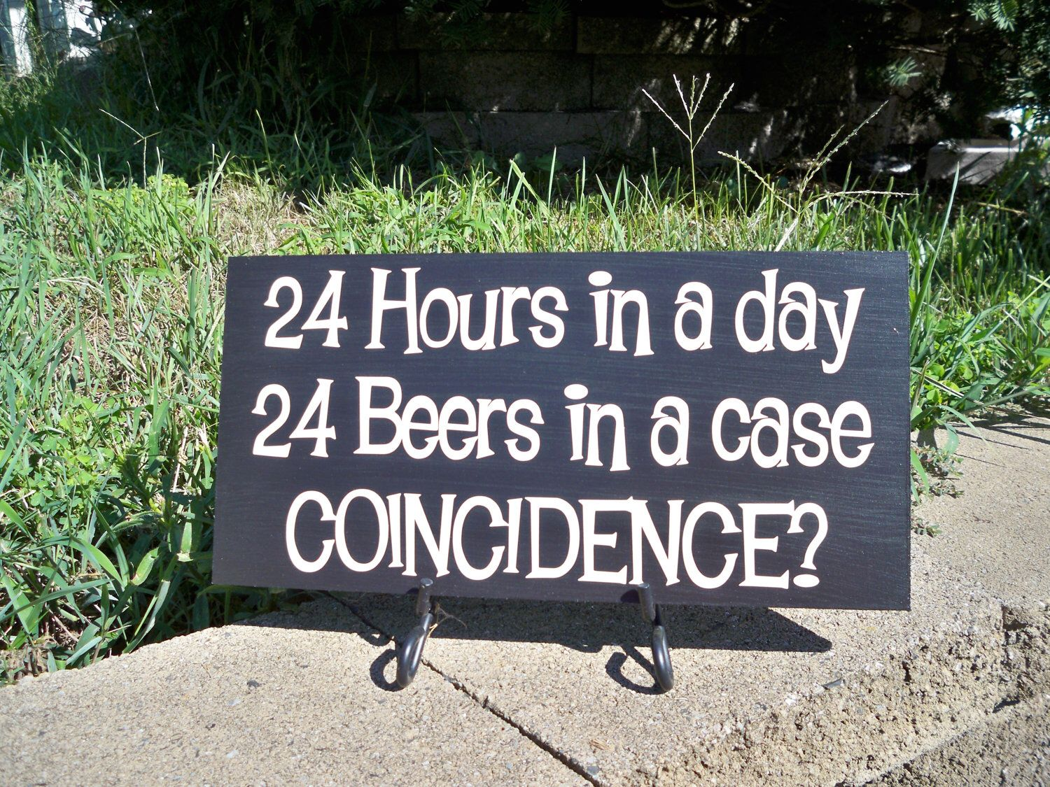 Man Cave Hours : Beer sign bar man cave 24 hours in a day beers case