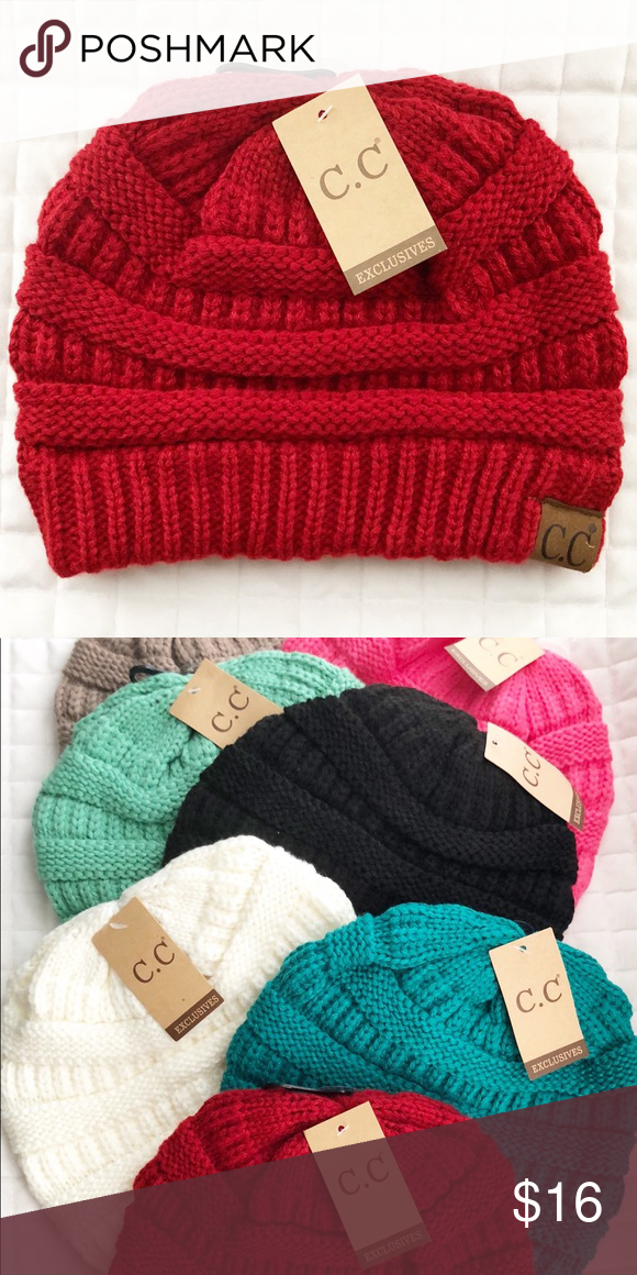 85a8bbfa3148b Red CC Beanie So many colors! One for almost every outfit in your closet!  100% acrylic PRICING IS FIRM CC Boutique Accessories Hats
