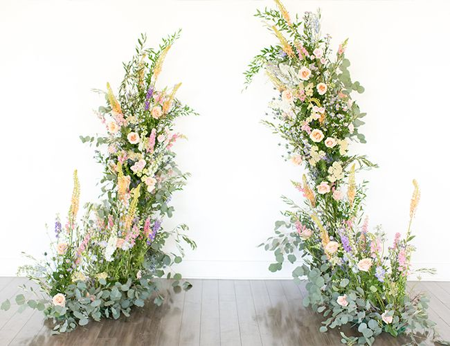 Lush Garden Wedding Inspiration is part of garden Wedding Entrance - From now on, when you think of an indoor garden, the vision of this lush garden wedding inspiration will pop into your head  From the Hayley Paige ball gown to the florals, it's a true fairytale