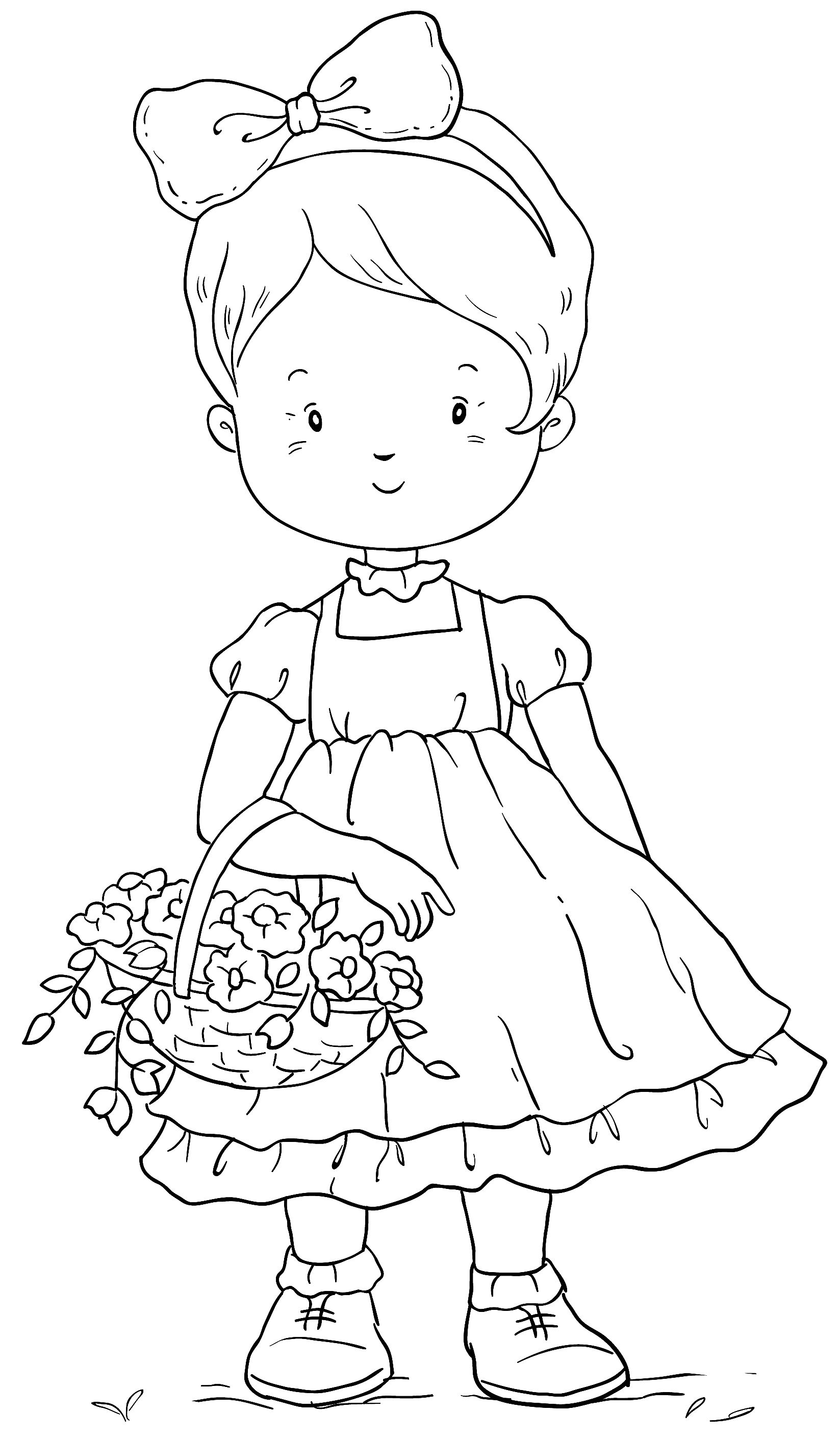 Flower Girl | !STAMPS :-) | Coloring pages, Coloring sheets ...