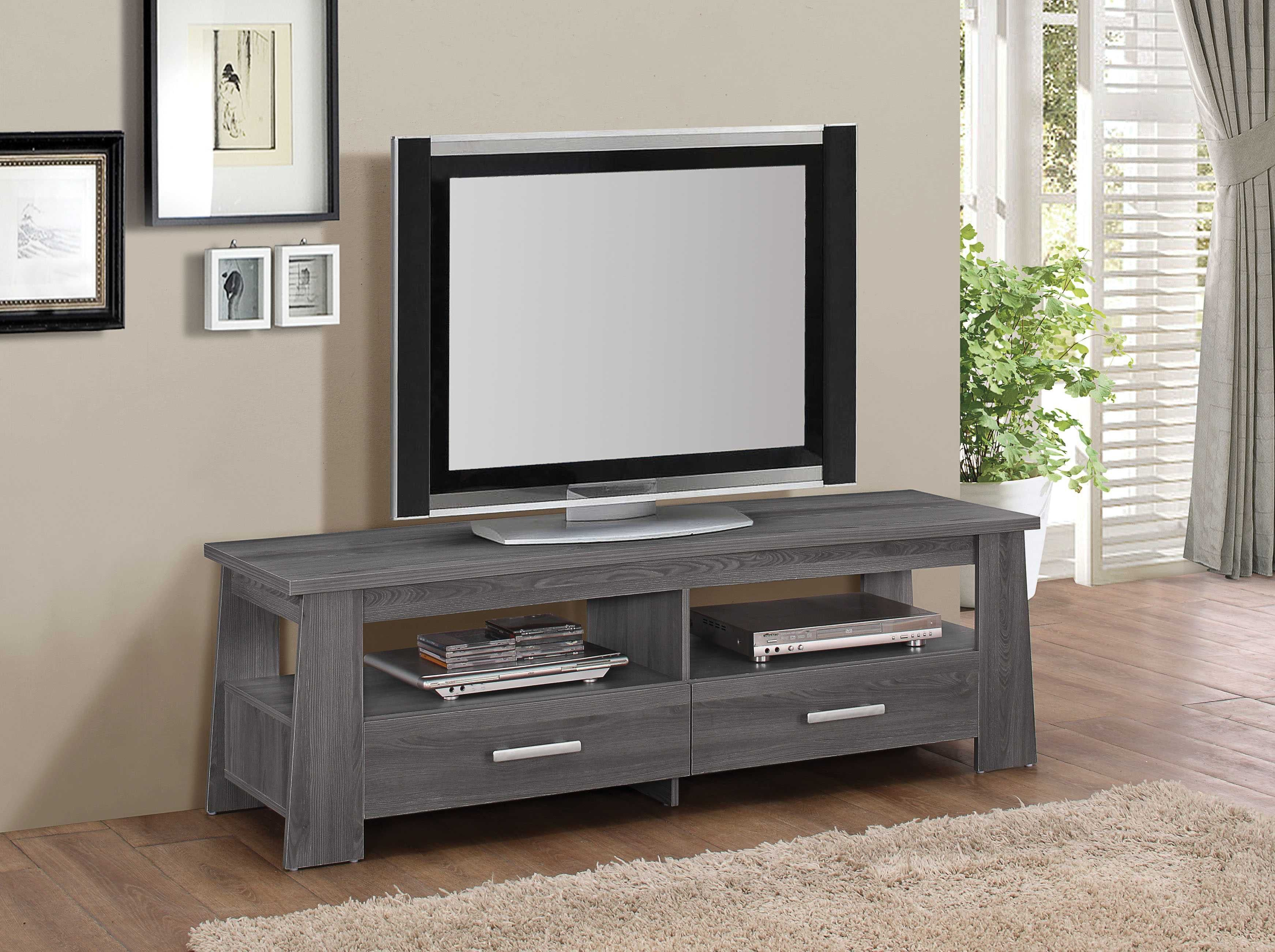 Acme Falan TV Stand Dark Gray Oak at hhoutlets for only