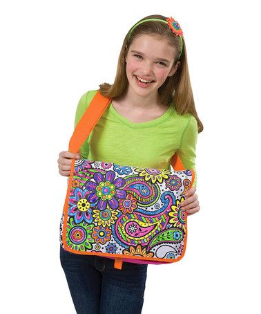 Another great find on #zulily! Flower Bag Coloring Set #zulilyfinds