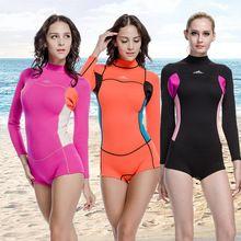 a49553323 Presentes dos namorados 2 mm Neoprene Wetsuit ternos de mola para mulheres  manga comprida macacão de