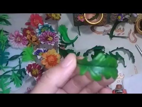 اشغال يدوية عمل الاوراق بعجينة السيراميك للوحة الفنية How To Make Ceramic Paste Leaves Youtube Floral Floral Rings Flowers