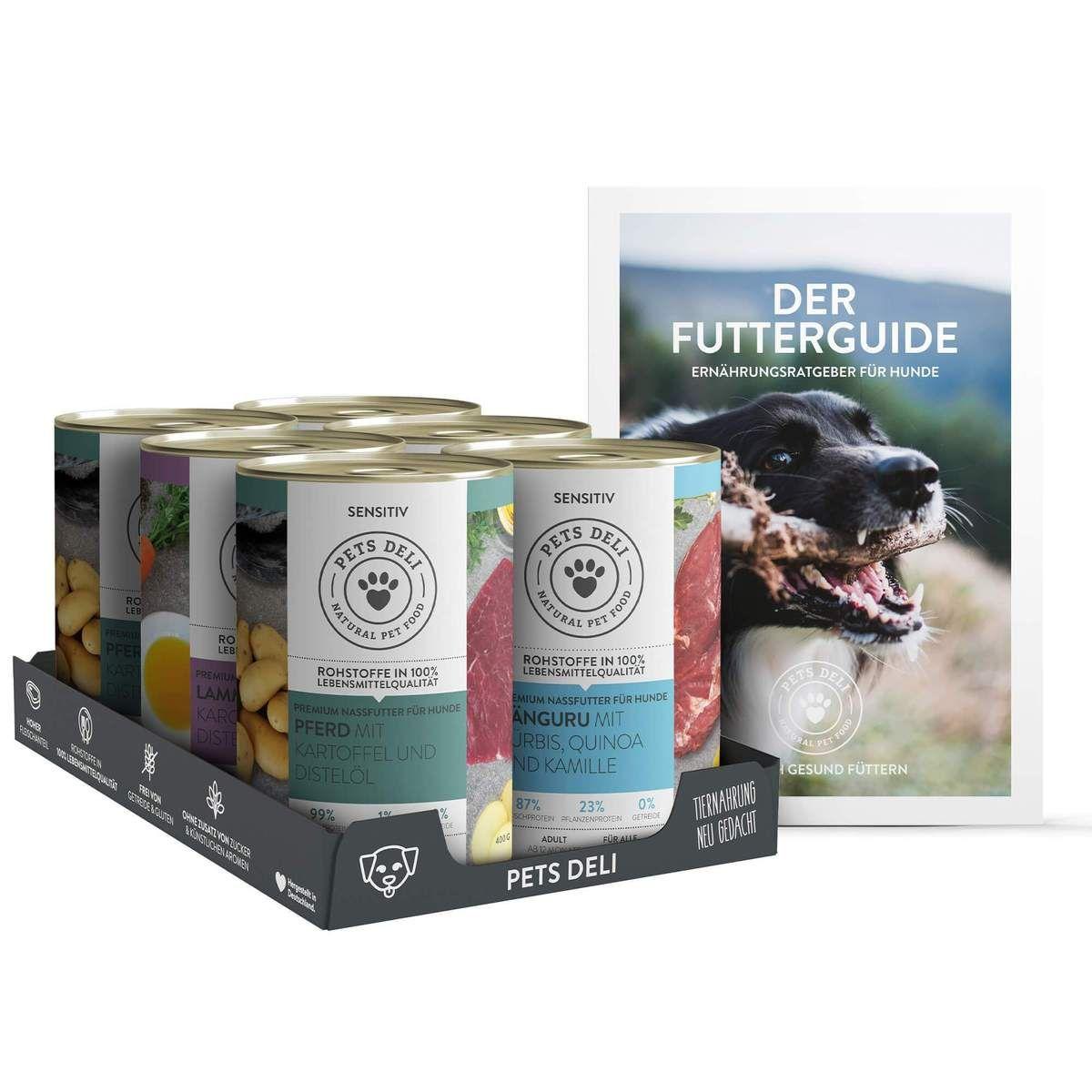 Nassfutter Probierpaket Sensitiv Fur Hunde Inkl Futterguide