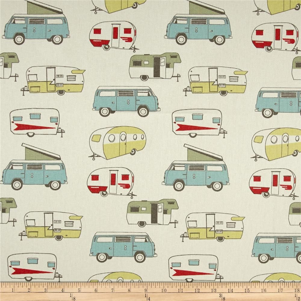 Rv curtains motorhome class a - Premier Prints Vintage Camper Formica Macon Home Decorating Fabric Texas