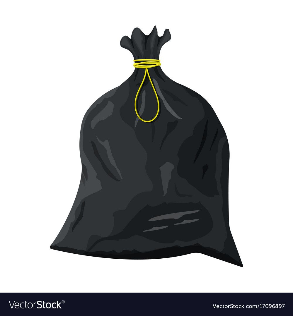 Plastic Garbage Bag With Rope Icon Royalty Free Vector Image Sponsored Bag Rope Plastic Garbage Ad Vector Images Vector Free Royalty Free