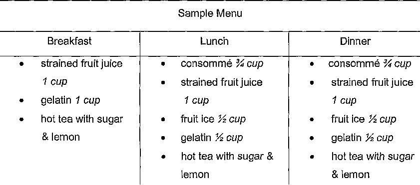 bland diet breakfast menu