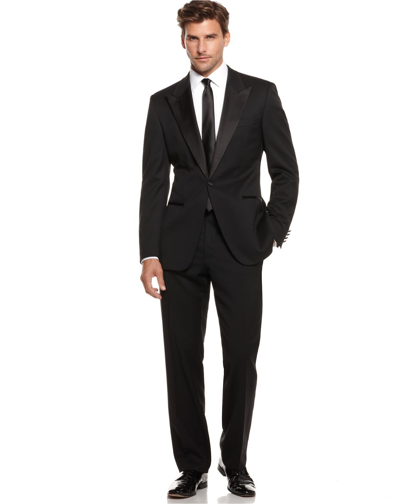0272857a7 BOSS by Hugo Boss Tuxedo, Cary Grant Black - Suits & Suit Separates - Men -  Macy's