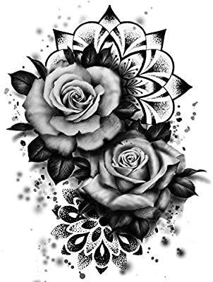 Rosen Tattoos Mandala Tattoo Kleber Party Tattoos km187