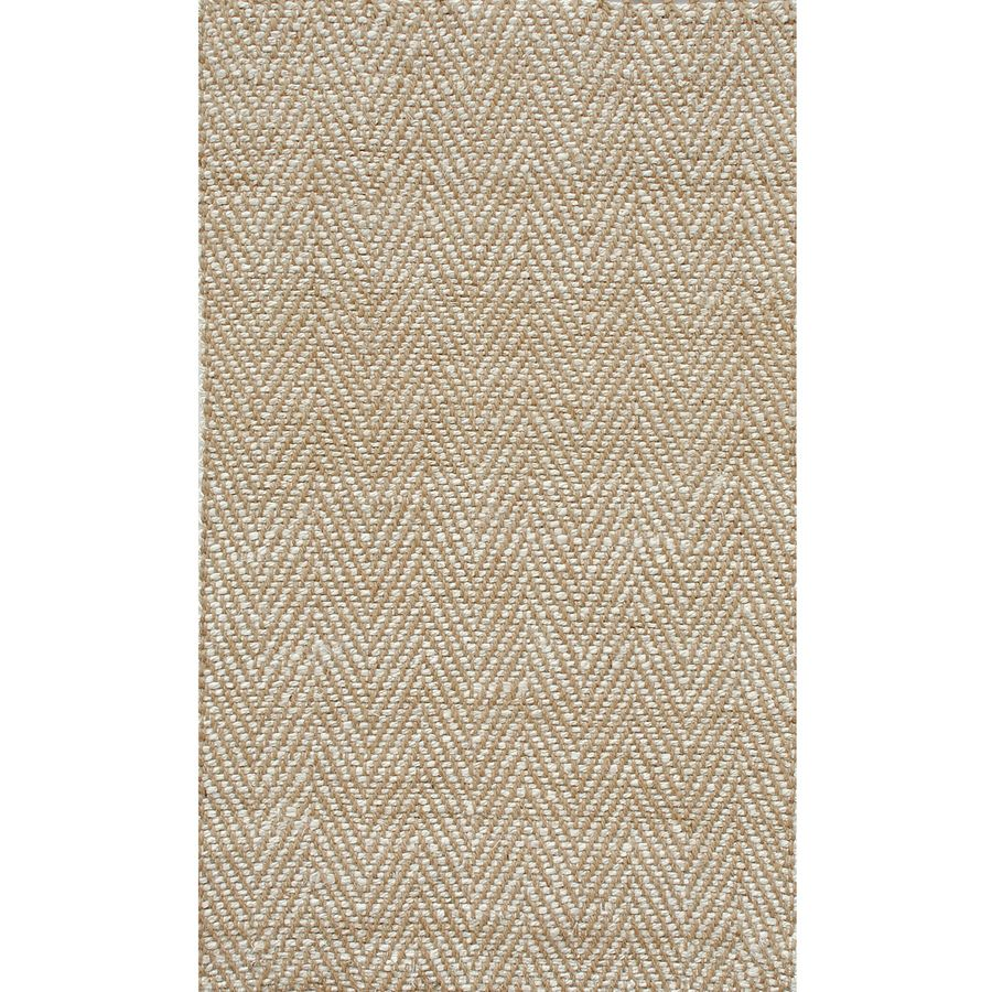 Shop Allen Roth Dovequay Natural Rectangular Indoor Woven Area Rug Common 5 X 7 Actual Farmhouse Rugs Rugs Area Rugs