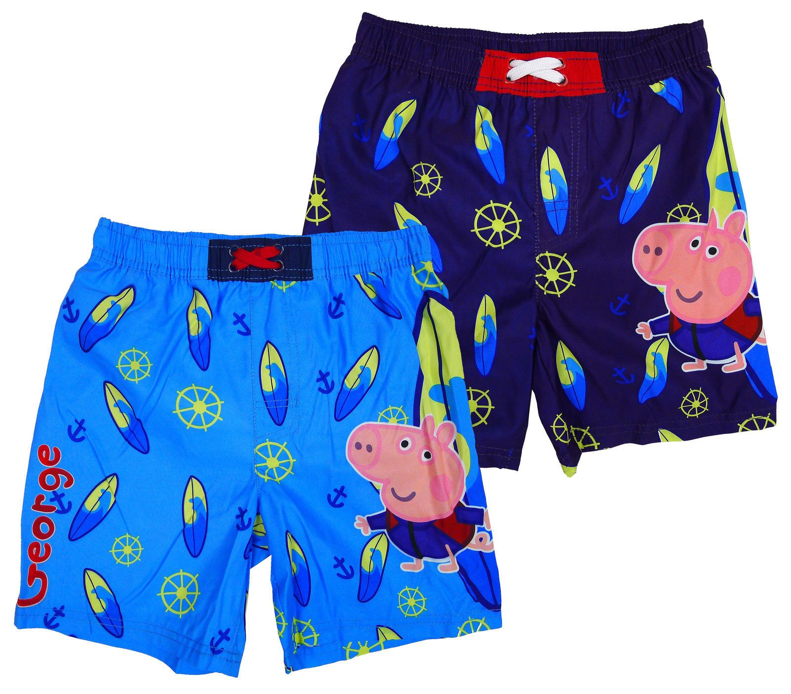 963846b1e9f19 Boys Shorts Swim Mesh Lined Official George Pig Peppa Kids Surf 4 To 8 Years