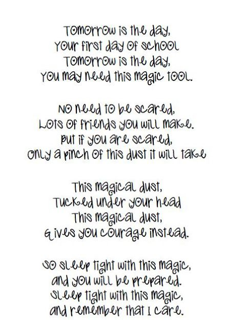 Nice Poem Yo Mail Out With Dust To Children Before School Begins