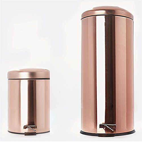 Brylanehome Set Of 2 Step Trash Cans Copper 0 Brylanehome Https Www Amazon Com Dp B06x9nvf68 Ref Cm Sw R Pi Dp Trash Cans Copper Kitchen Kitchen Trash Cans