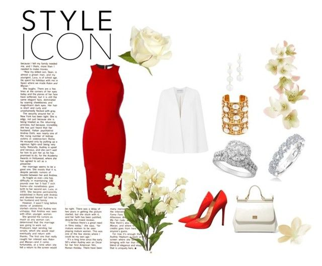 """""""Style Icon"""" by lacasclyne on Polyvore featuring Amanda Wakeley, Christian Louboutin, Victoria Beckham, Rebecca Minkoff, Sylvia Toledano, Dolce&Gabbana and Karl Lagerfeld"""
