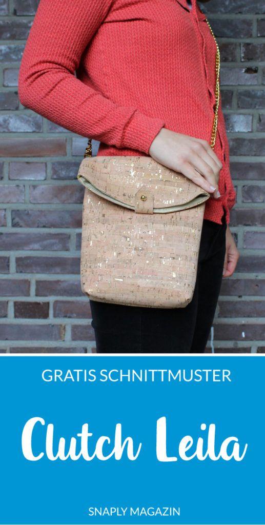 Kostenloses Schnittmuster: Handtasche Leila #textilepatterns