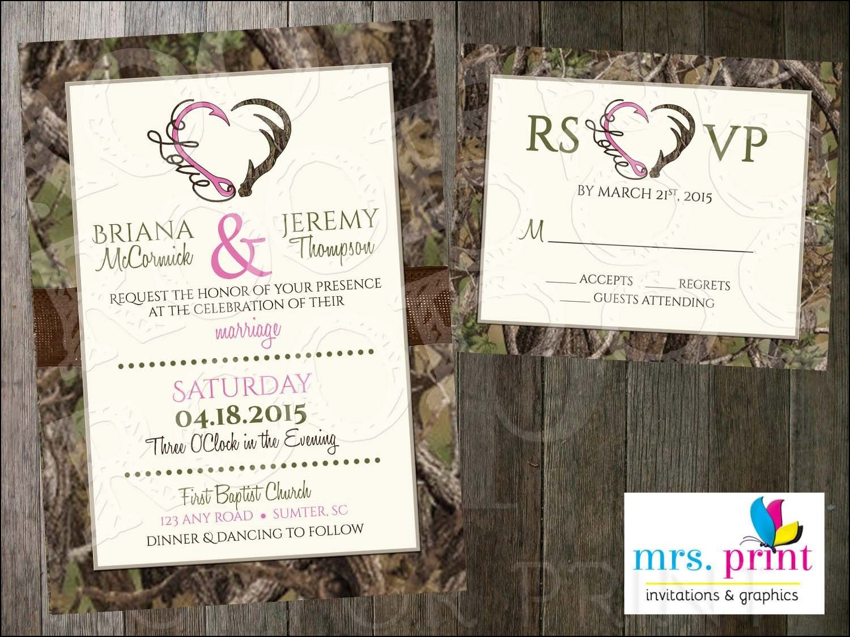 Snow Camo Wedding Invitations   Wedding Ideas   Pinterest   Snow ...