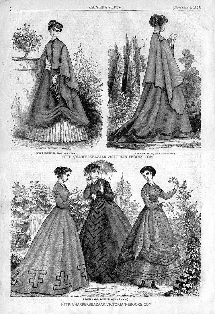 Harper S Bazaar Nov2 1867 Page 4 Victorian Hats Edwardian Fashion Harpers Bazar