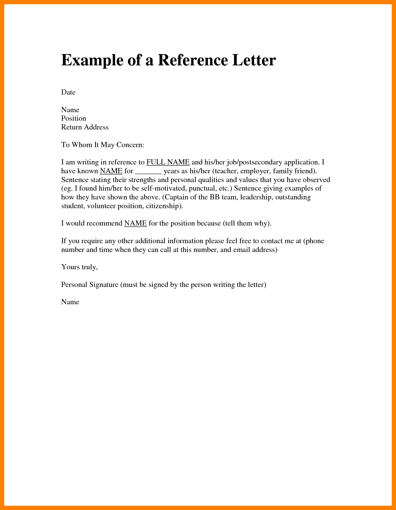 Character Reference Letter For A Friend - 9 Samples of Character