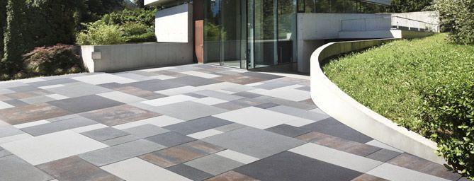 Pavimentazione arredo urbano pavimentazioni giardini pavimentazione per esterni cemento - Piastrelle in cemento per esterno 50x50 ...