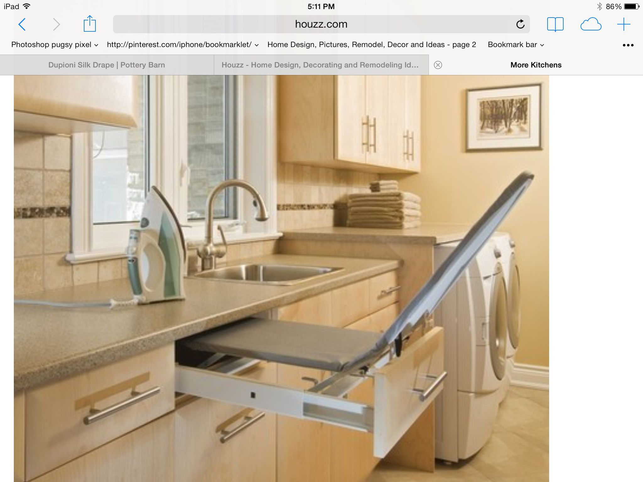 Built in ironing board..houzz.com