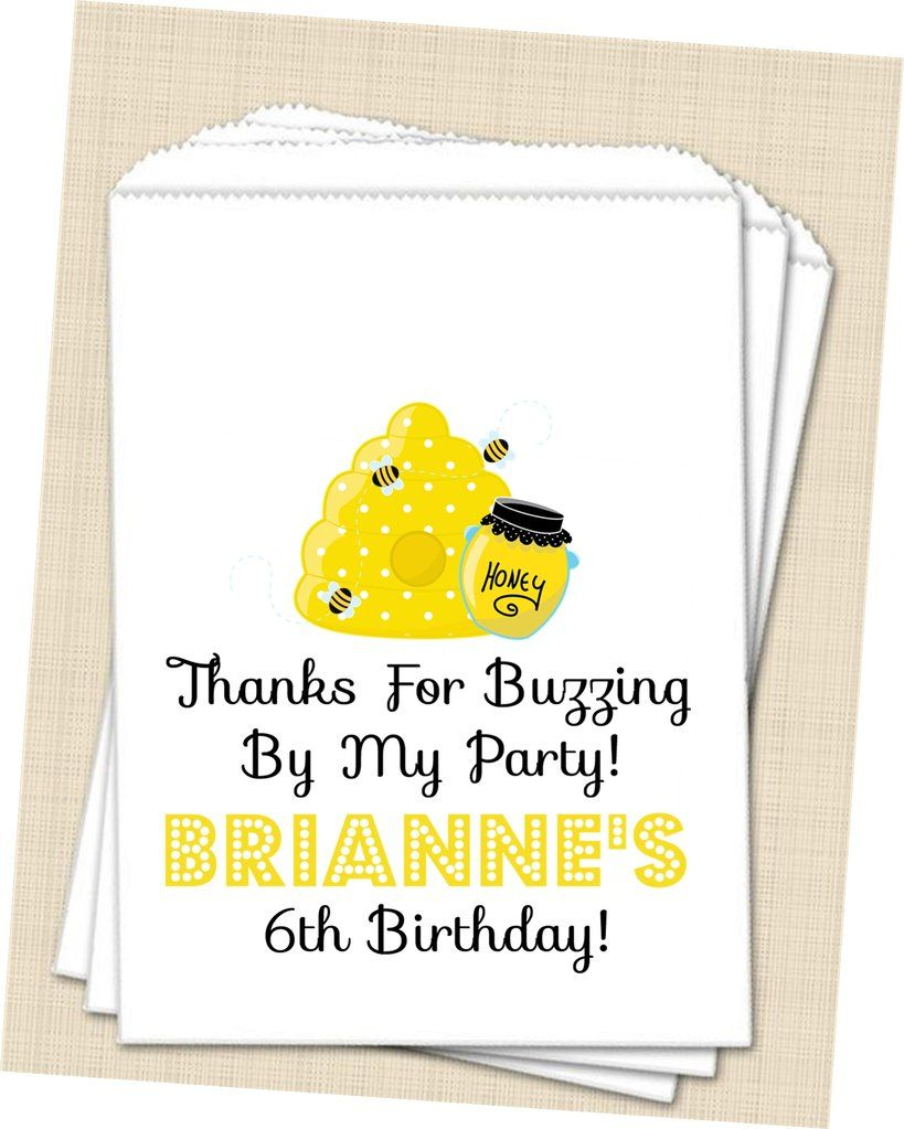 Bumble Bee Birthday Party Favor Bags | Bumble bee Parties ...