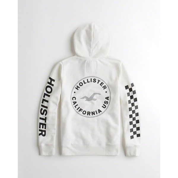 fe88179890a Hollister Checkerboard Graphic Hoodie ( 50) ❤ liked on Polyvore featuring  men s fashion