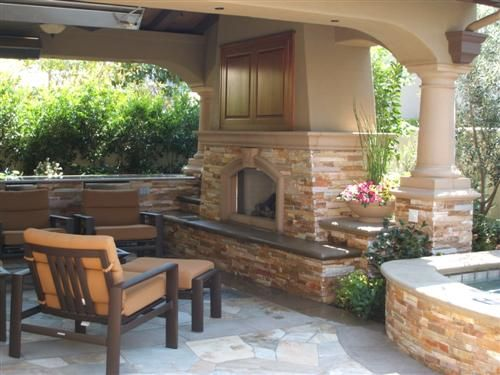 Outdoor Fireplace With Tv Above It For The Home Pinterest