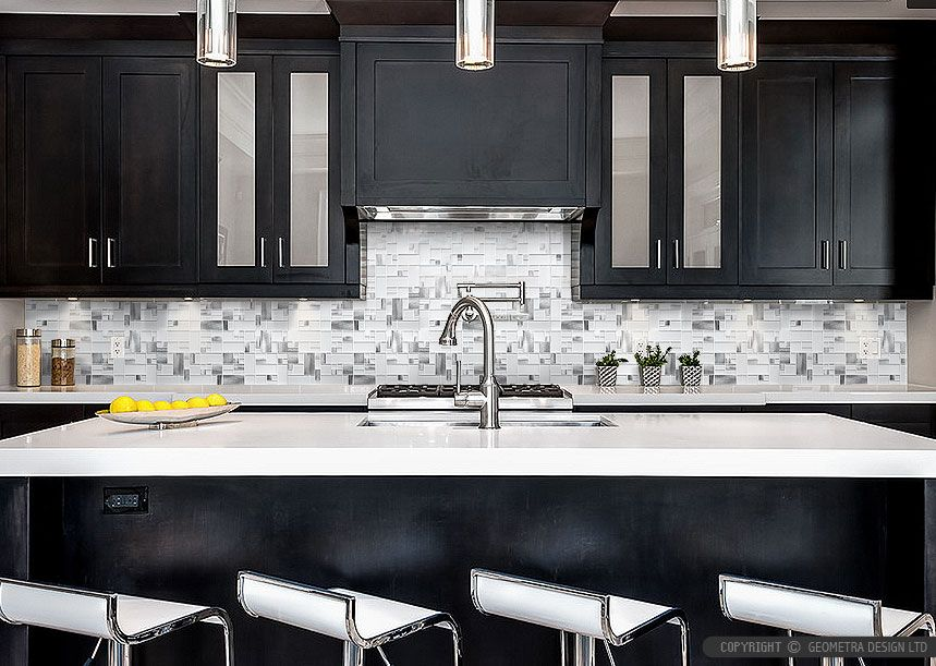 Kitchen Cabinet Backsplash Classy Modernespressocabinetwhiteglassmetalkitchenbacksplash . Inspiration Design