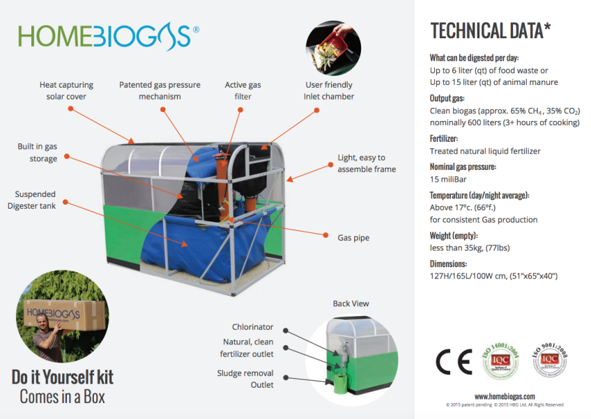 HomeBiogas - Turn Your Garbage into Energy  Biogas product; waste-to-energy; cleantech; greentech; offgrid; homesteading; permaculture Find out more here:   https://www.indiegogo.com/projects/homebiogas-create-your-own-energy#/