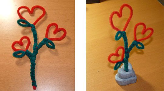 Bricolage cure pipes on pinterest pipe cleaner crafts - Bricolage facile st valentin ...