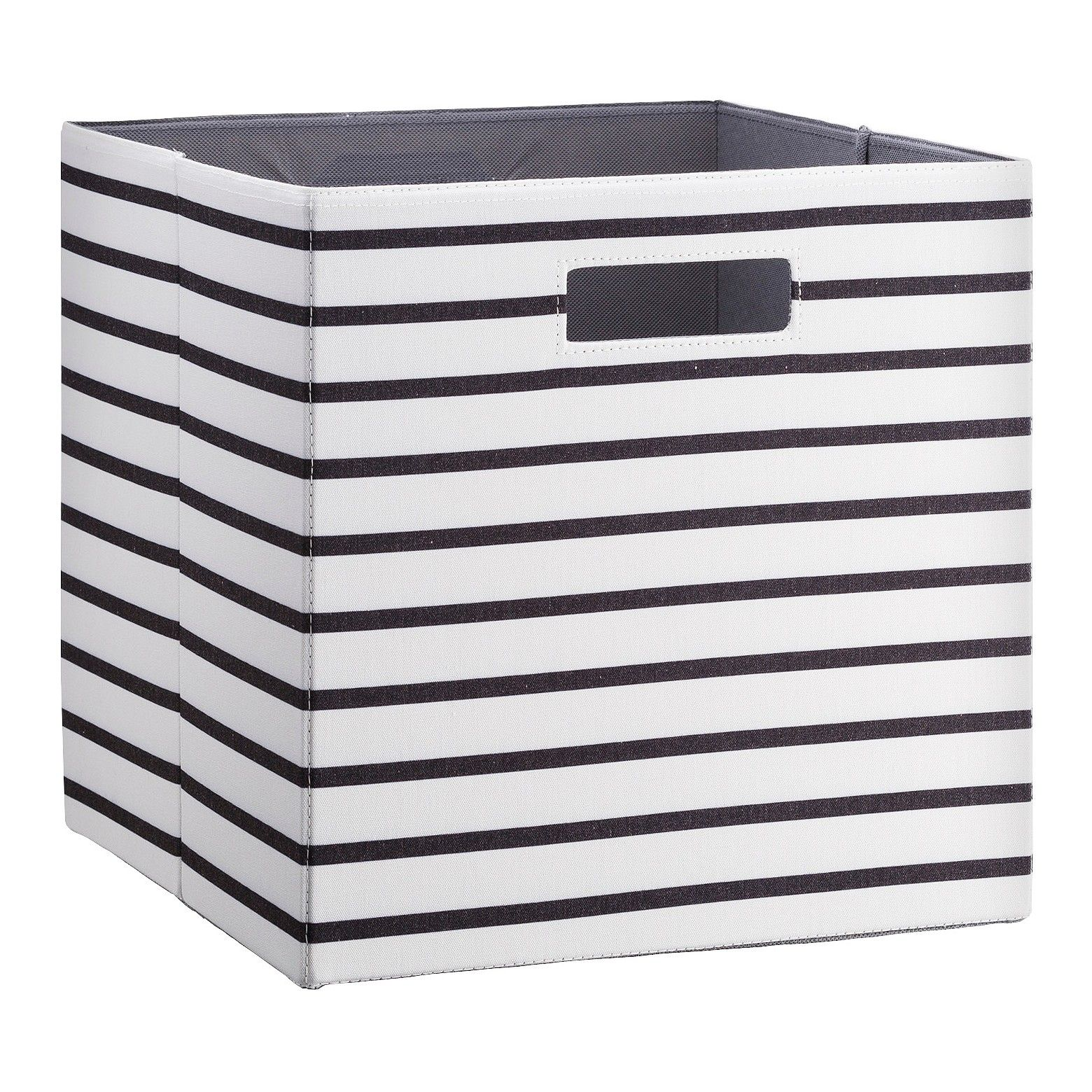 Fabric Cube Storage Bin White Black Stripe 13 Threshold Cube Storage Bins Fabric Storage Bins Fabric Storage Cubes