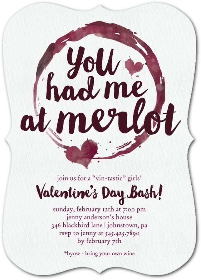 You had me at merlot. Host a ladies get together this Valentine\'s ...