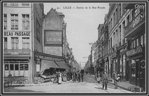 Vieux Lille Cpa De Lille Lille Photos Anciennes Rue Royale Lille Rue De La Barre Lille Ville Lille Rue