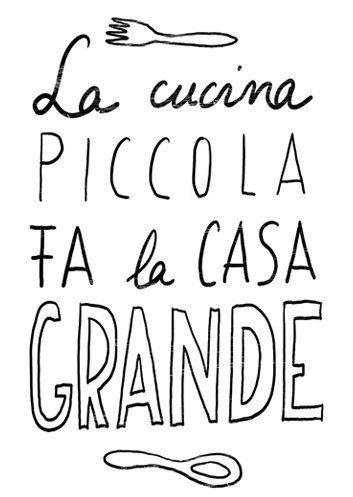 Anek LA CUCINA Kitchen Art Typography Print - high quality fine art ...