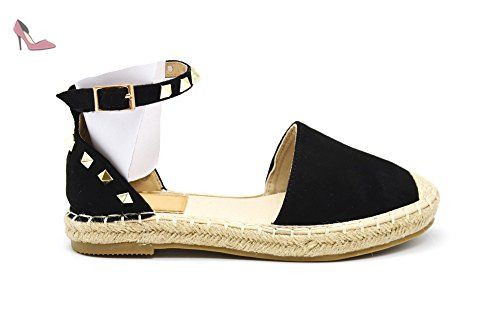 REPLAY RF220016S chaussures noires Nesia glisser sur Espadrilles plateaux 37 MjFeNStCw