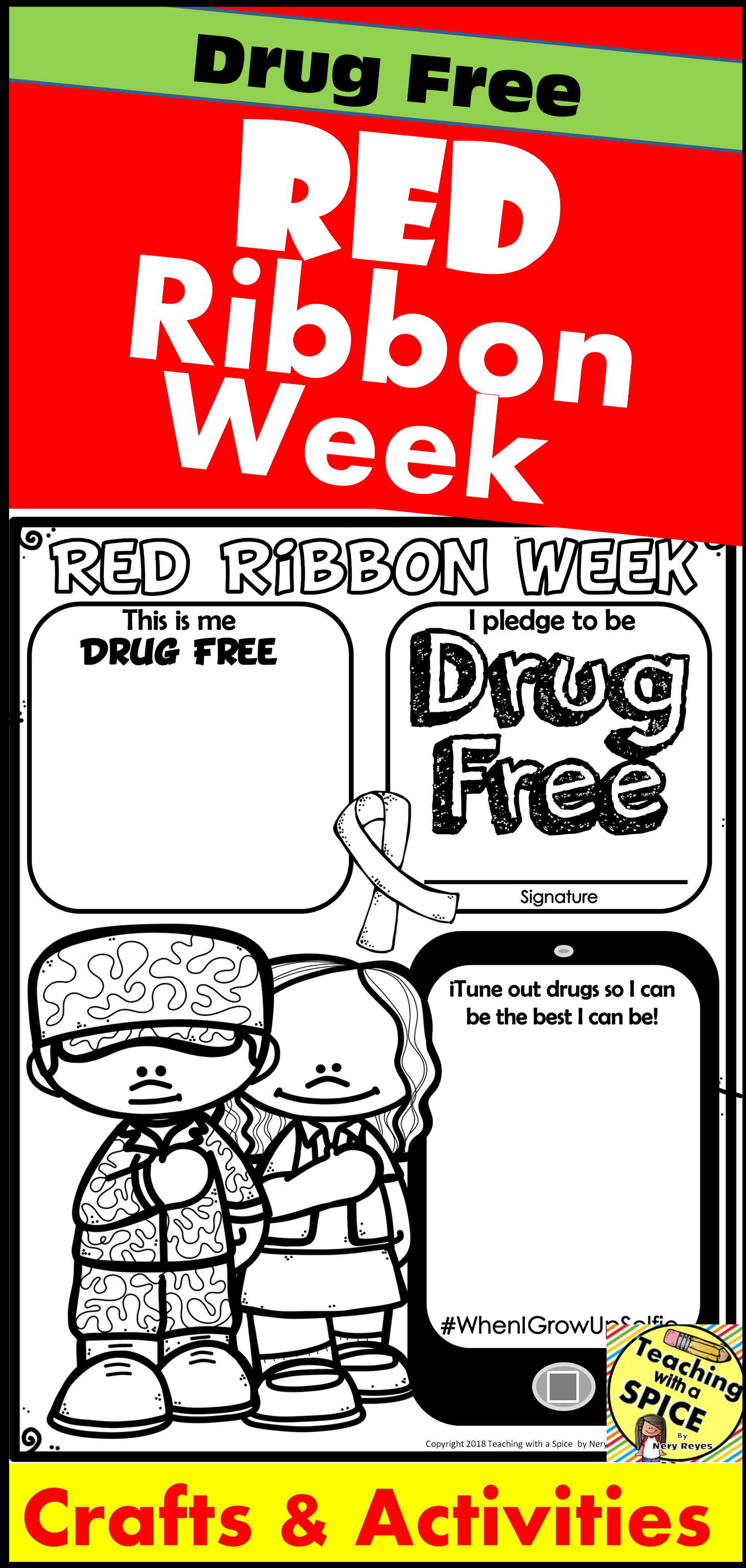 Red Ribbon Week Activities 2020 Crafts Door Decoration Be Happy Be Brave Red Ribbon Week Sight Words Kindergarten Red Ribbon [ 3070 x 1461 Pixel ]