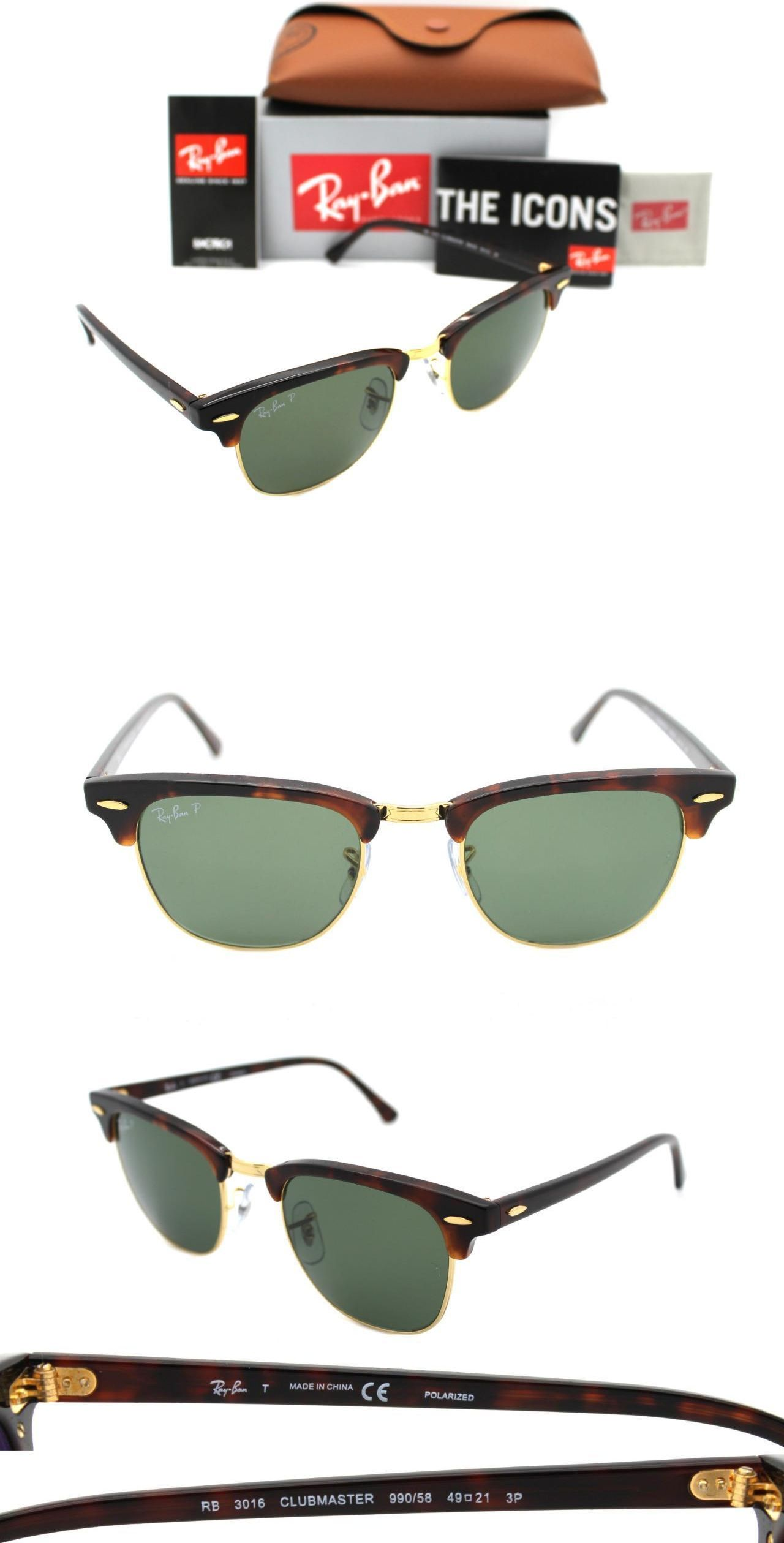 68760245484 ... where to buy sunglasses 155189 ray ban authentic clubmaster 3016 990 58  havana frame green polarized