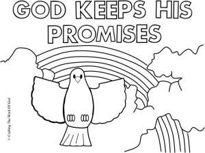 god keeps his promises coloring page  sunday school